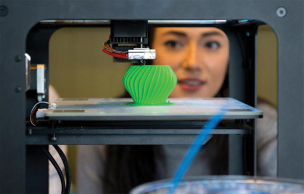 Photograph of 3D printing at the Edge.