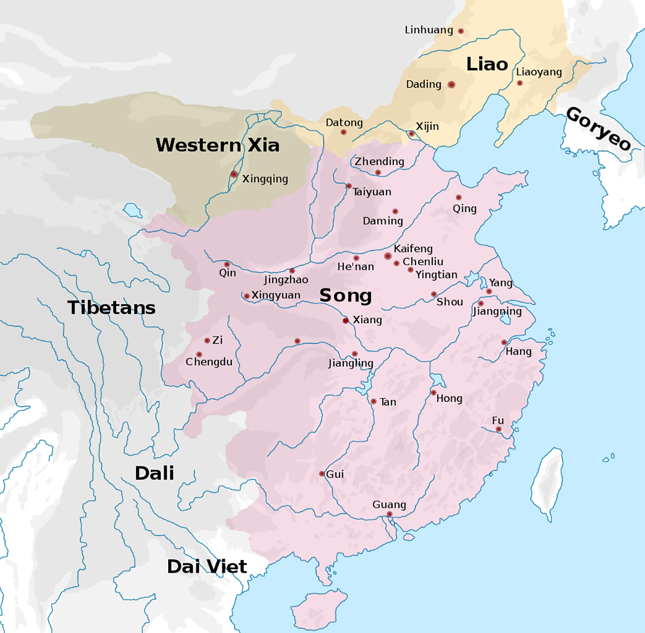 Map of Song Dynasty in China