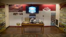 ICCEW production room and text as displayed at the University of Oklahoma Bizzell Memorial Library during the Academic Year 2017-2018