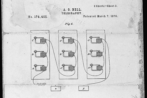 Telephone Patent Drawing - Bell