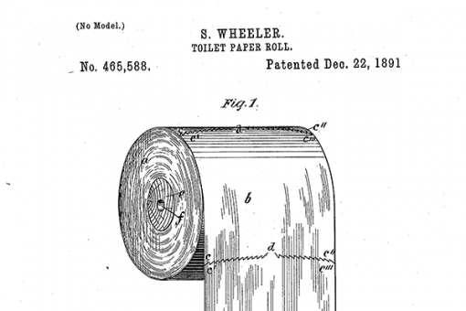 Toilet paper roll patent - US465588